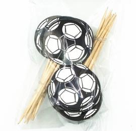prikker voetbal  (1 stuk) - stokje naar keuze