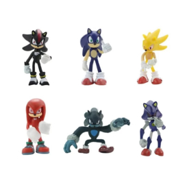 set figures Sonic C (6 poppetjes) 6-7cm