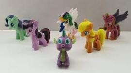set My Little Pony D (6 paardjes) 4*4cm