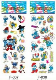 1 Stickervel Smurfen