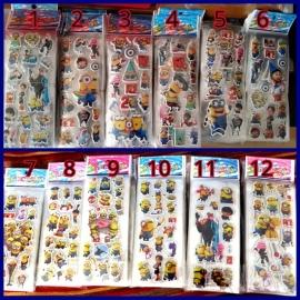 1 stickervel Minions naar keuze