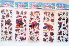 1 stickervel Spiderman