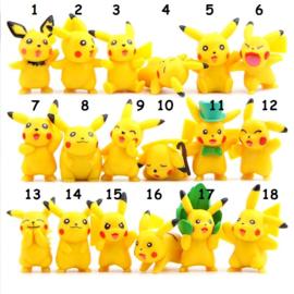 1 figuur Pokemon Pikachu 5cm uit set C - naar keuze