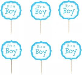 prikker It's a boy (1 stuk) - stokje naar keuze