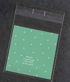 1 zakje groen of blauw  10x13cm - binnenkort op voorraad