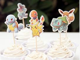 set 6 cupcake toppers Pokemon - lunghezza  a scelta