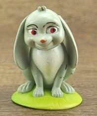 1 figuur konijn 6,5cm