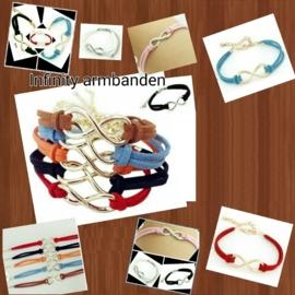 Infinity armbanden naar keuze