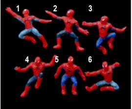 1 mini figuurtje  Spiderman 4cm naar keuze
