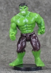 1 figuur  Hulk B 7cm - zonder staand
