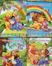 1 kleurboekjes met stickers Winnie Pooh