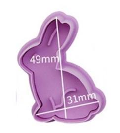 1 Uitsteker konijn 4*5,6cm