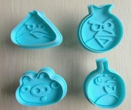Uitesteker Angry Birds (set 4stuks) die door de brievenbus kan