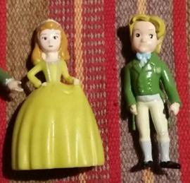 set 2 figuren Amber en prins 4,5cm