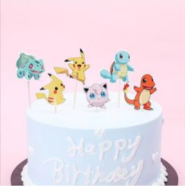 Set B cupcake Pokemon grandi (6 pezzi) - lunghezza a scelta