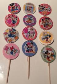 1 Topper medium met sticker - personage, kleur en stokje naar keuze