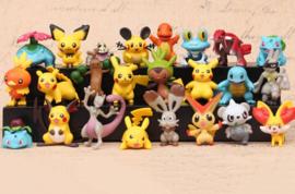 set D mini Pokemon Pikachu 2-3cm (24 pezzi)