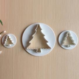Uitsteker Kerstbom (set 3 stuks) 3 tot 7cm