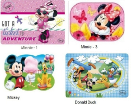 1 placemat Minnie or Mickey Mouse naar keuze