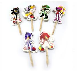 Set A prikkers Sonic (6stuks) - stokje naar keuze