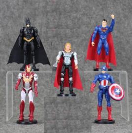 Avengers set B (5 figuren) 10cm met staand