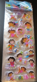 1 stickervel Dora