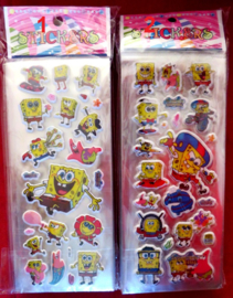1 stickervel Spongebob