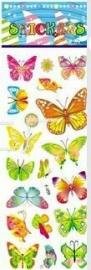 1 foglio adesivi Farfalle
