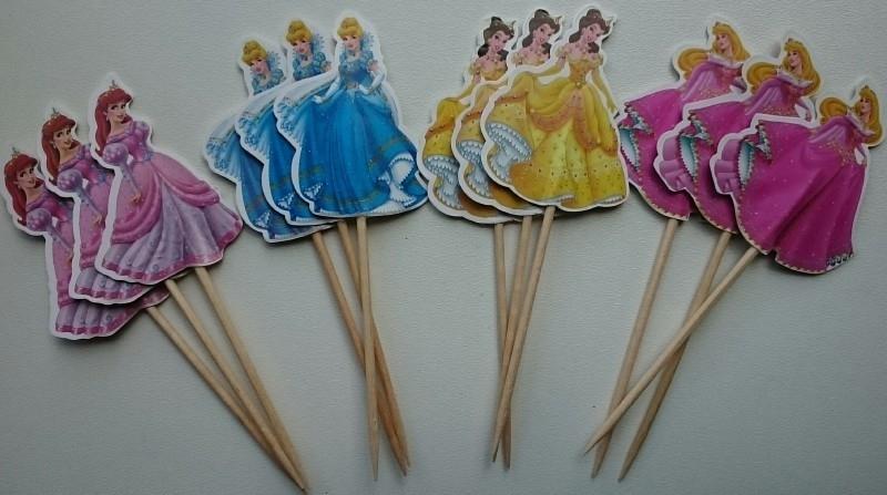 Set A prikkers Disney Prinsessen (4st.) - stokje naar keuze