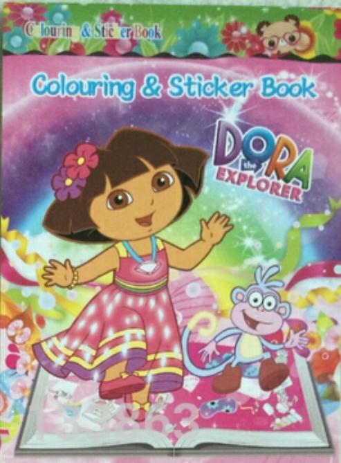 1 kleurboekje met stickers Dora