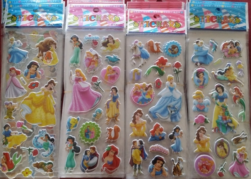 1 Stickervel Prinsessen