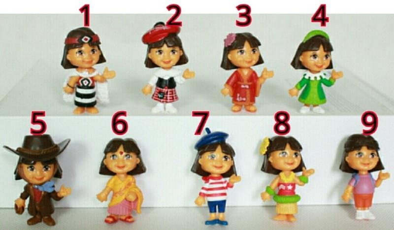 1 mini figuur 4,5cm Dora naar keuze