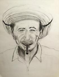 Zuid-Amerikaanse man met sigaar