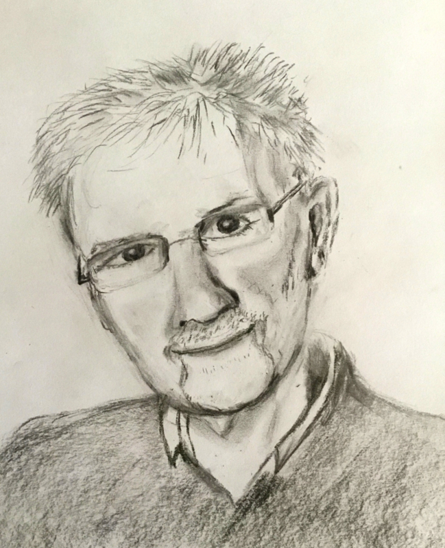 Portret van man . door Wilma