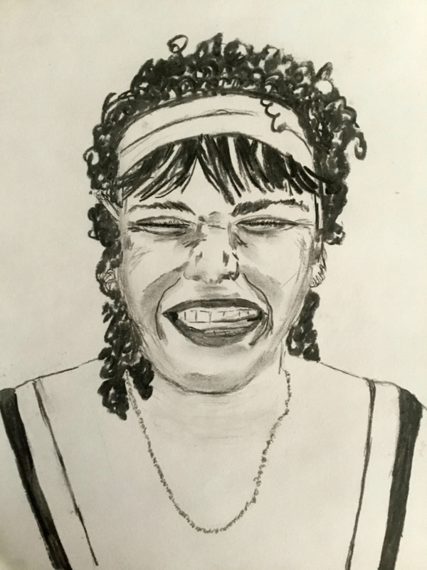 Lachende vrouw door Wilma