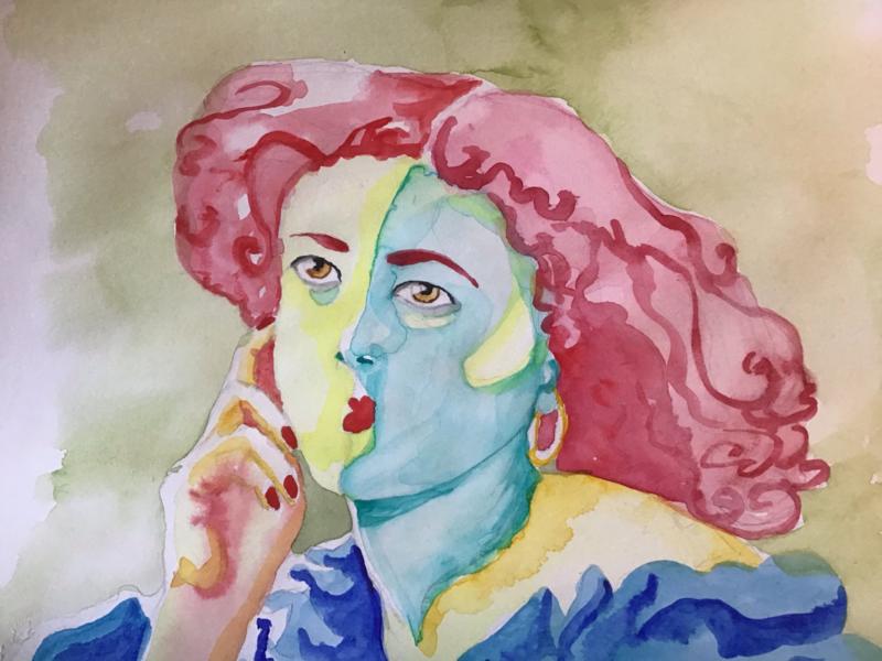 Sarah in aquarel
