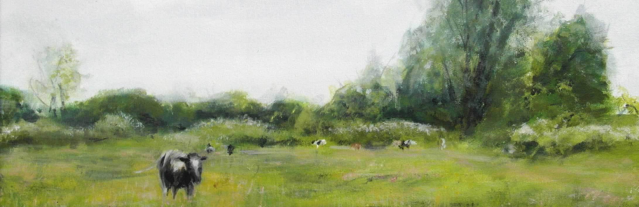Het Eiland. Schilderij © Clara Miedema
