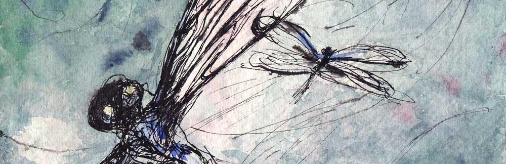 Libellen pentekening: Clara Miedema
