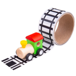 transport tape met locomotief