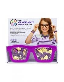 parelset bril paars