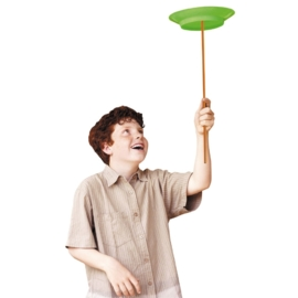 jongleerbord met stok