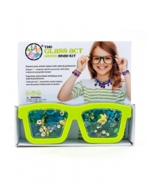 parelset bril groen
