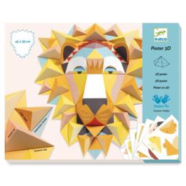 DJECO Knutsel 3D poster leeuw DJ09447