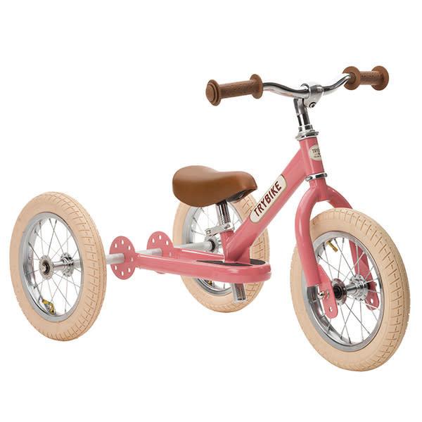 Trybike 2-in-1 retro pink fiets