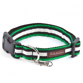 Triple Ribbon Stripe GREEN-BLACK-CREME STRIPE