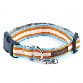 Triple Ribbon Stripe LIGHT BLUE-ORANGE-CREME STRIPE