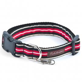 Preppy Stripe RED-BLACK-TAN