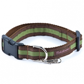 Double Ribbon Stripe CHOCOLAT-GREEN