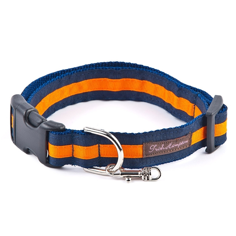 Double Ribbon Stripe NAVY-BRIGHT ORANGE
