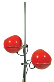 Orange floorlamp from the sixties
